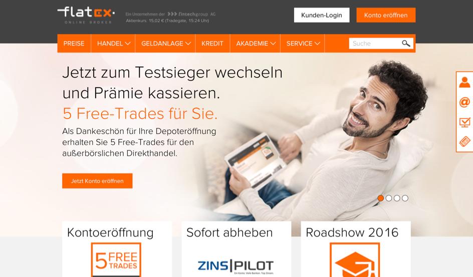 www flatex
